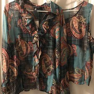 NEW  Koret Woman  Plus Size 22W  Blouse & shell